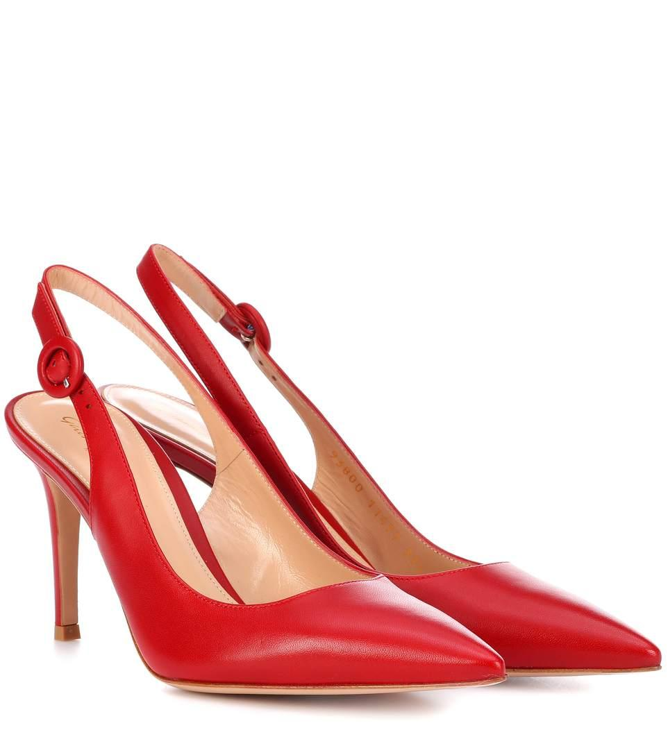 f9433b093bcb GIANVITO ROSSI. Exclusive To Mytheresa.Com - Anna 85 Leather Slingback Pumps  ...