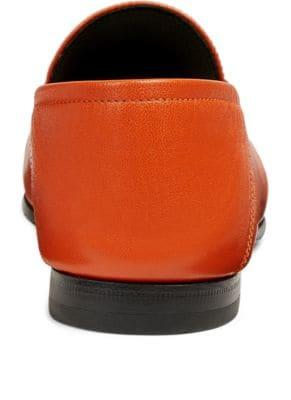 Gucci 10Mm Brixton Leather Loafer In Orange