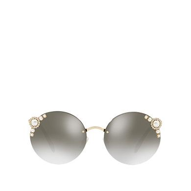 9c98f0b39466 Miu Miu ManièRe Eyewear With Pearls In Anthracite Gray To Lake Blue  Gradient Lenses With Silver