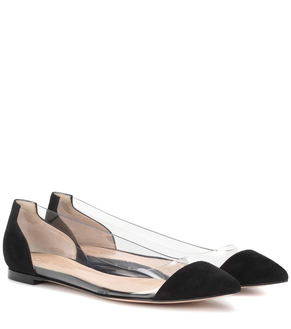 4243af5257f GIANVITO ROSSI. Exclusive To Mytheresa.Com – Plexi And Suede Ballerinas in  Black