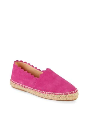 0479ff8d250d Saks Fifth Avenue Marigold Suede Scallop Espadrilles In Pink