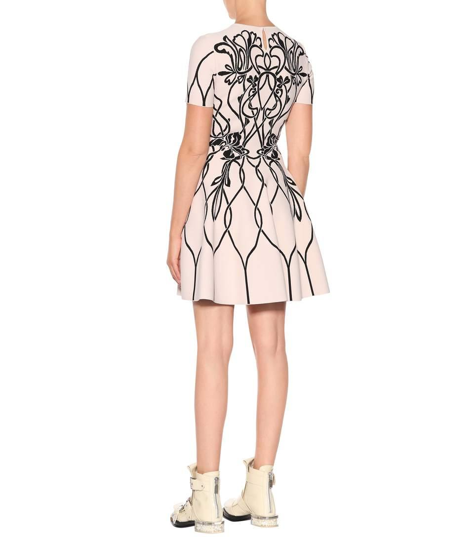 1393ad96fd Alexander Mcqueen Art Nouveau Jacquard-Knit Dress In Ivory   ModeSens