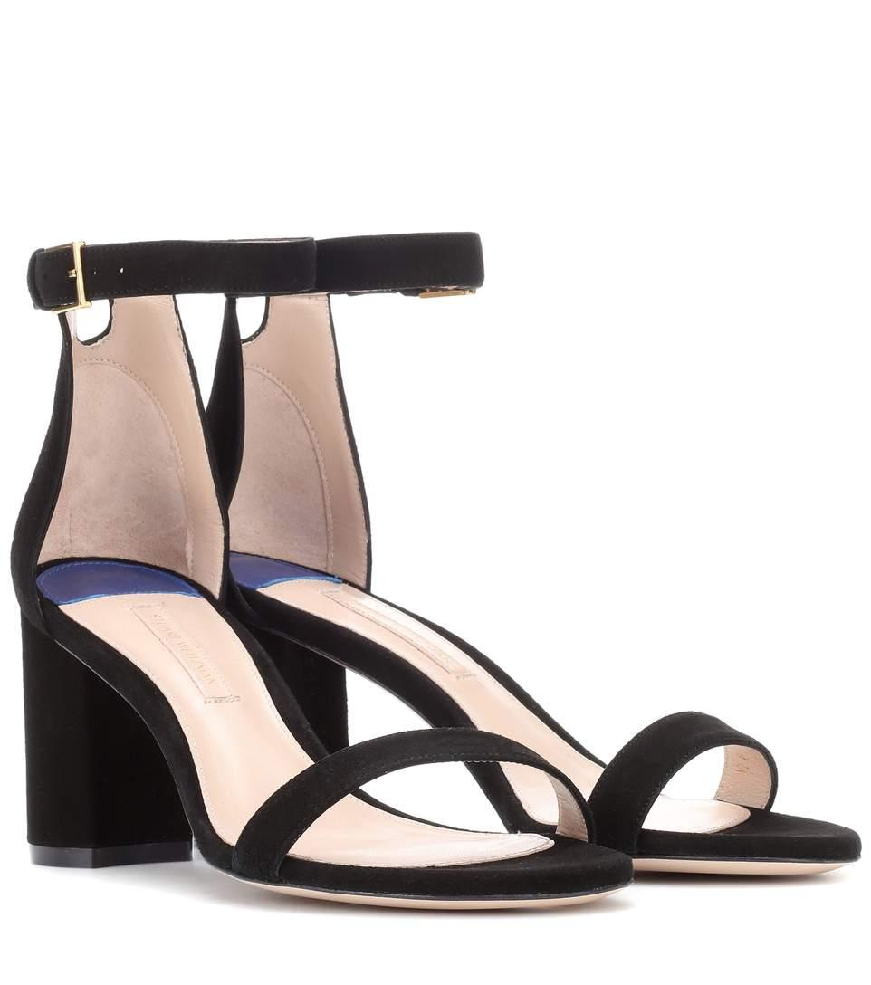 2b2b05b88 Stuart Weitzman 75Lessnudist Suede Sandals In Black
