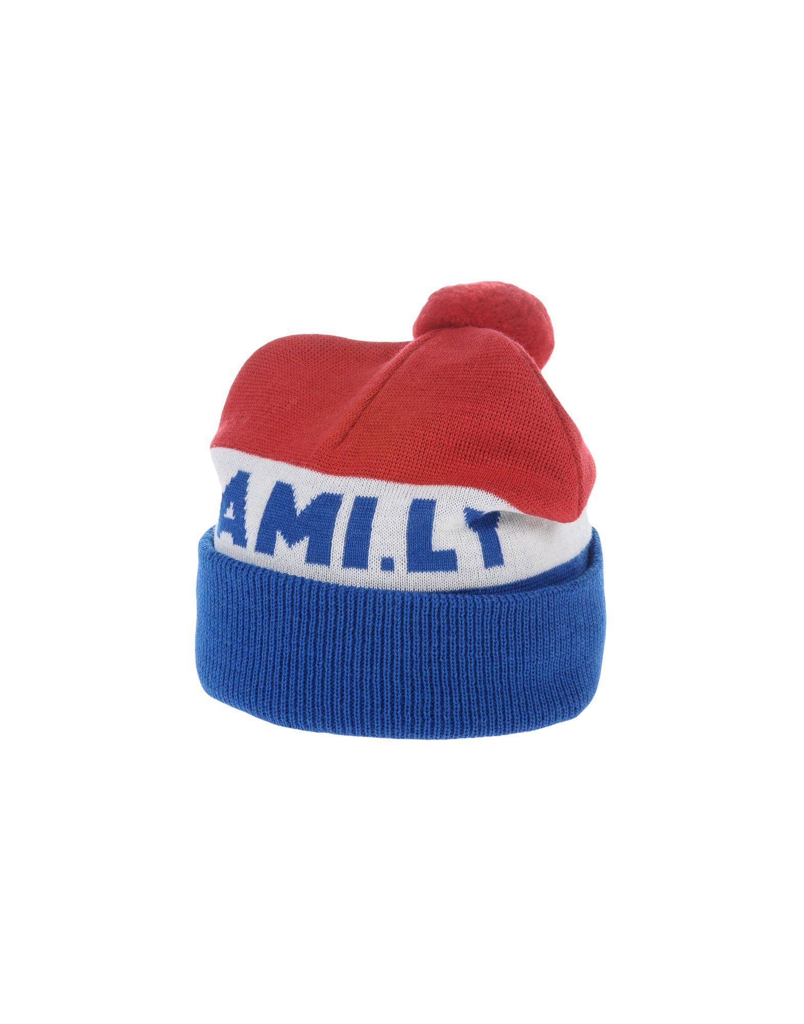 9ae50d9a4f1 Ami Alexandre Mattiussi Hats In Red