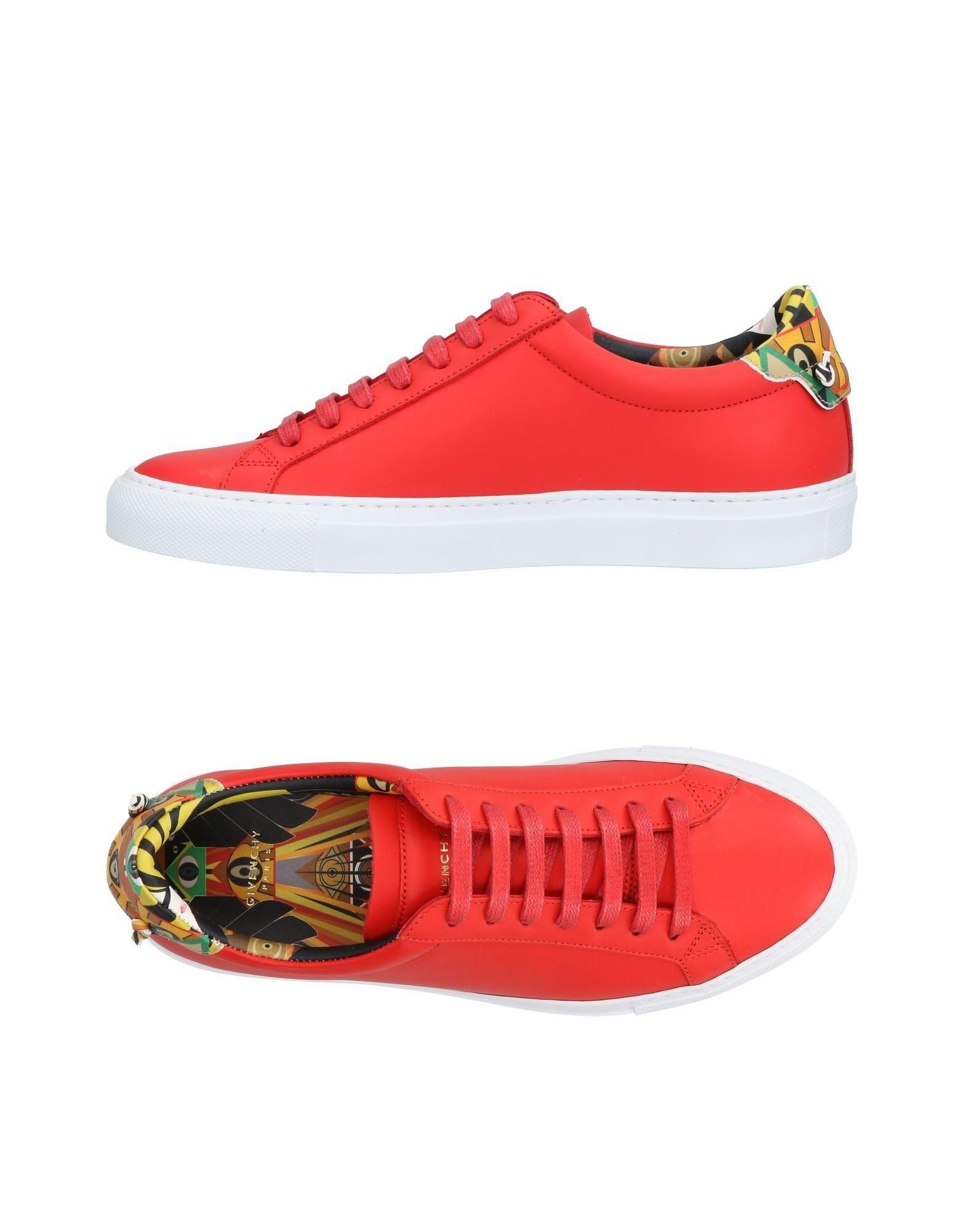 Givenchy Urban Know Low Top Leather Sneaker In Red