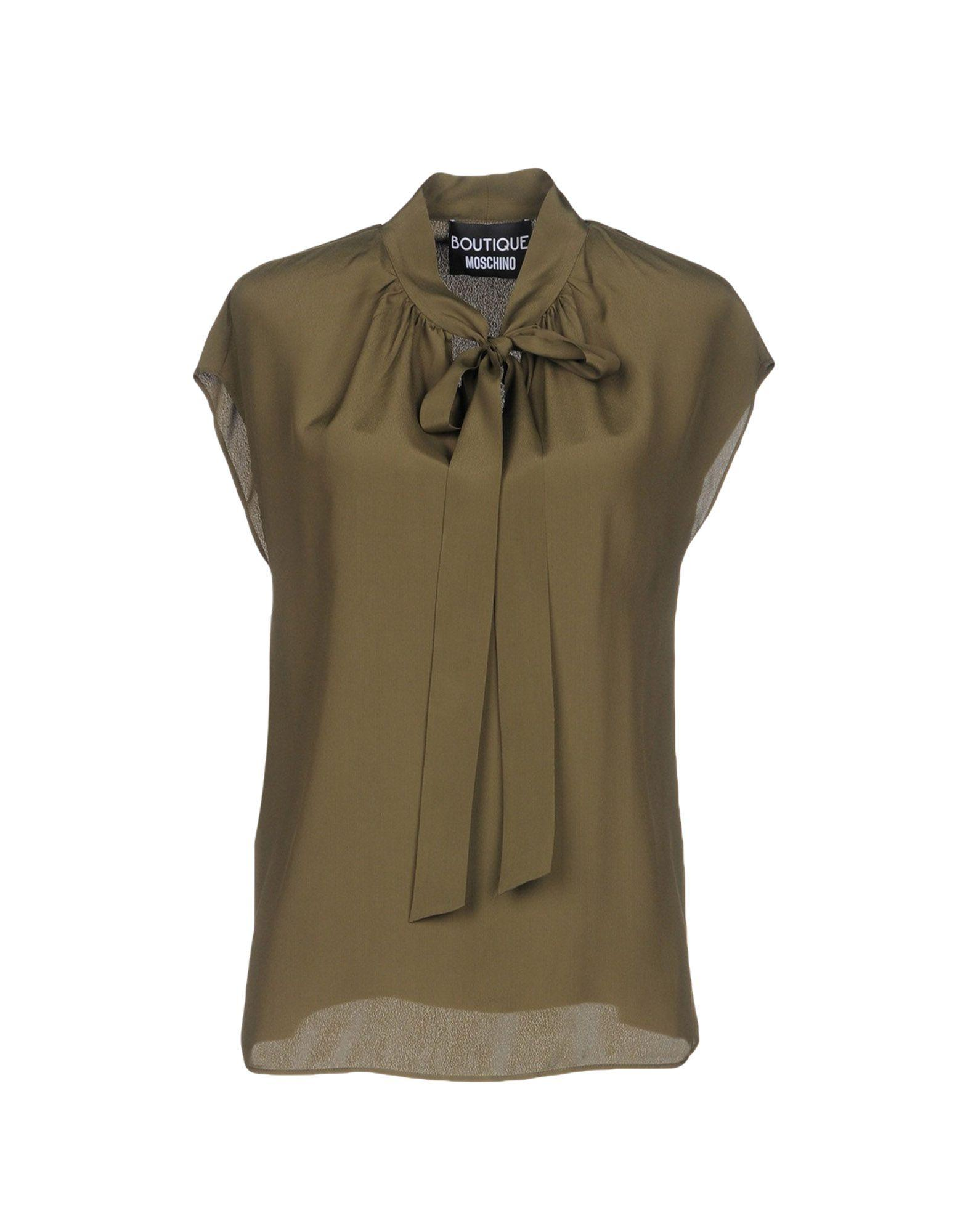 5b2405df4b615 Boutique Moschino Blouse In Military Green | ModeSens