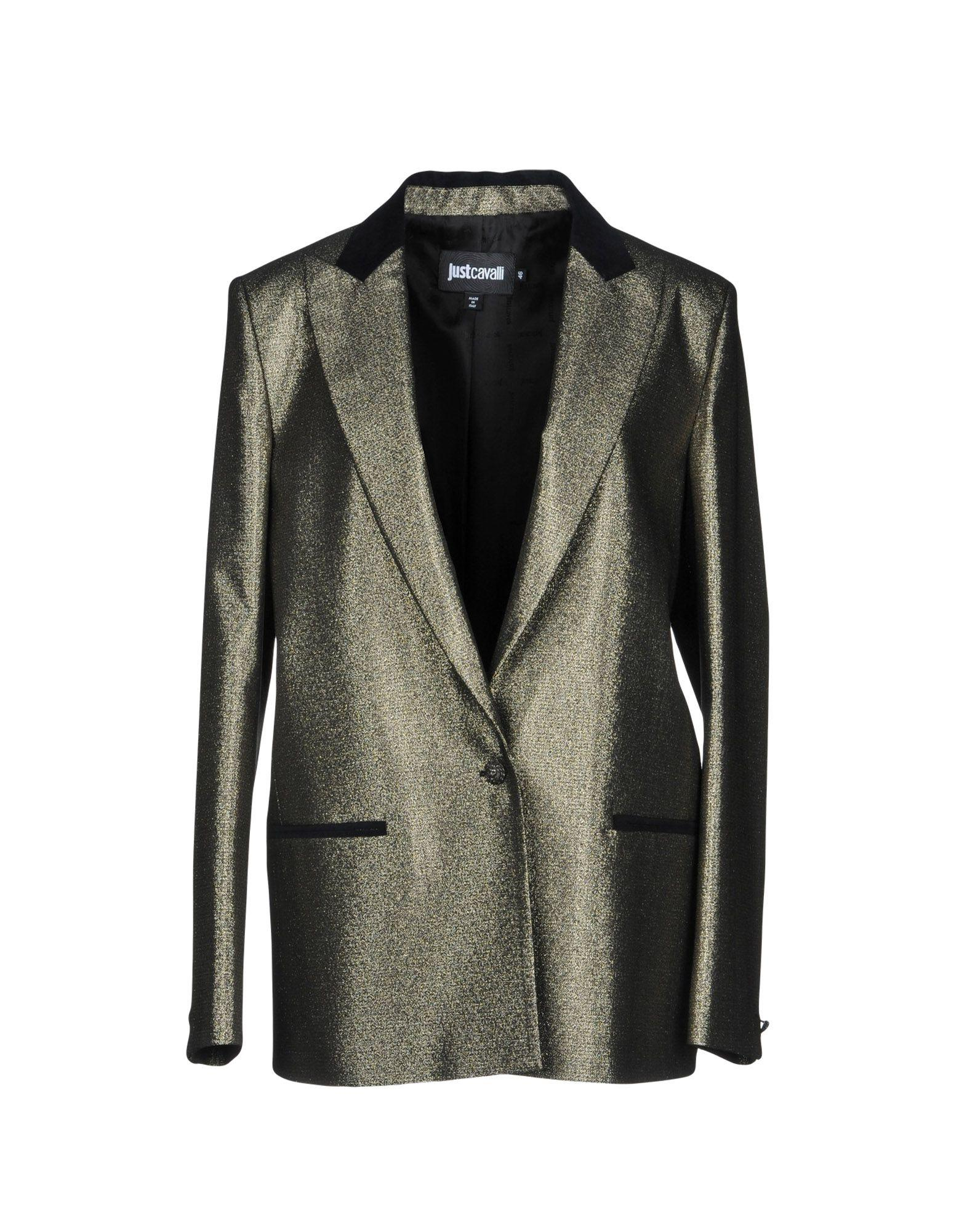 size 40 579fe 87d7f Just Cavalli Blazer In Gold