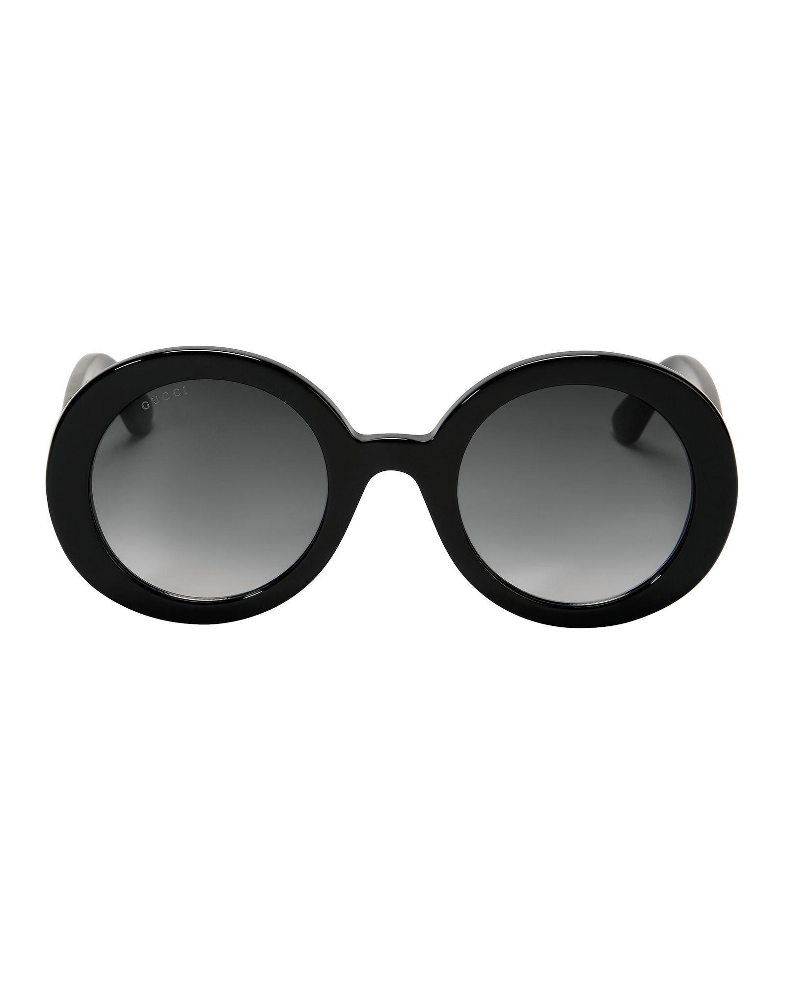 4641627b081 Gucci Black Round Sunglasses