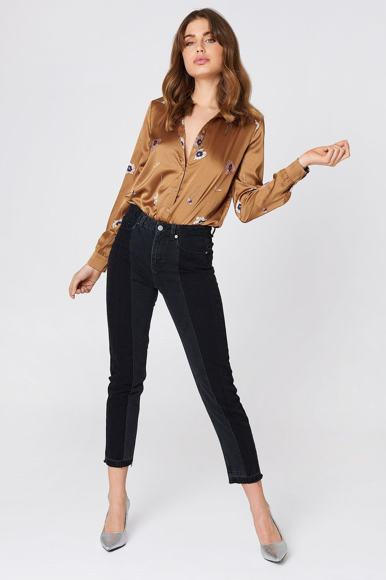 347168b2ee1 Na-Kd Two Wash Panel Jeans - Black
