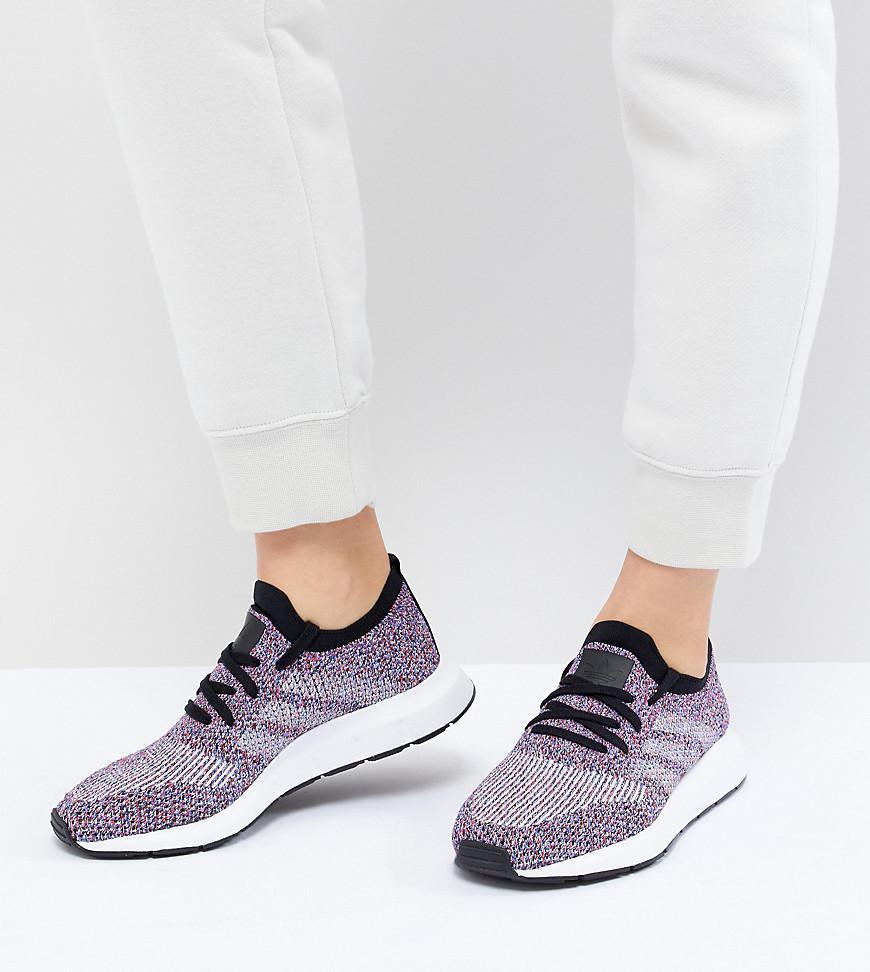 Swift Run Primeknit Sneakers In Multi - Black