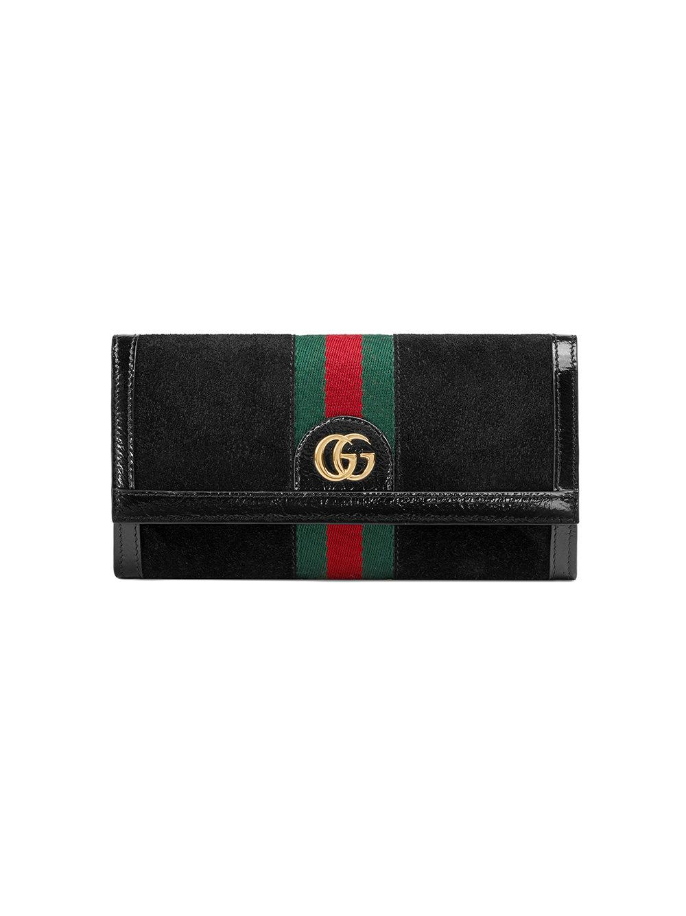 49bfb7c33dee Gucci Ophidia Continental Wallet - Farfetch In Black | ModeSens