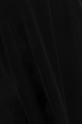 Roland Mouret Woman Velvet Wide-Leg Pants Black