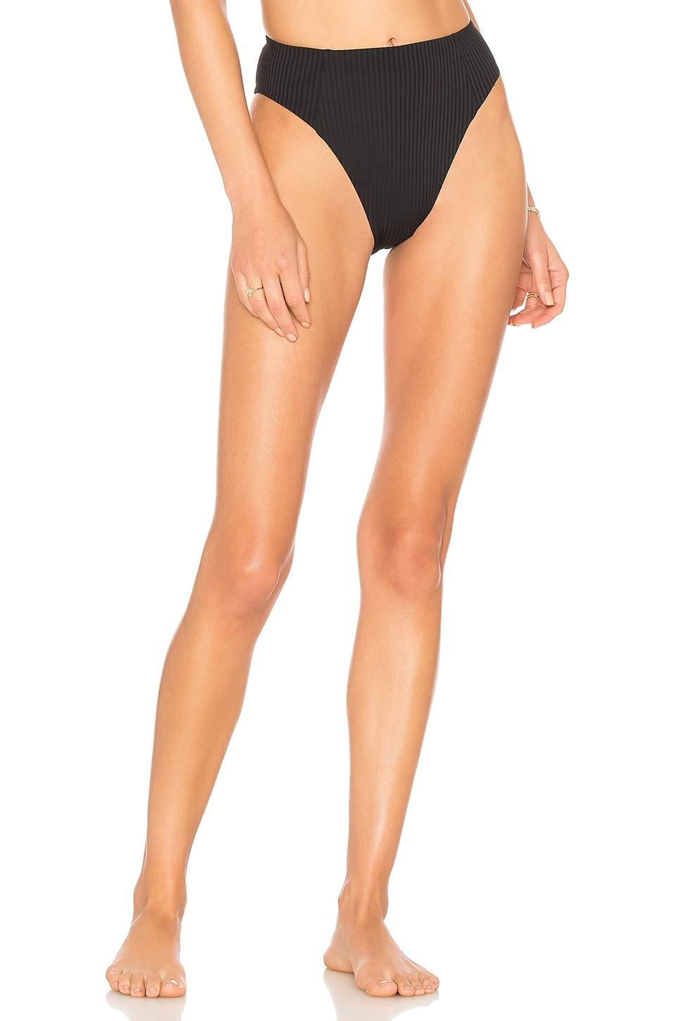 2a32480a8fd VITAMIN A. Vitamin A Sienna High Waist Bottom In Black.