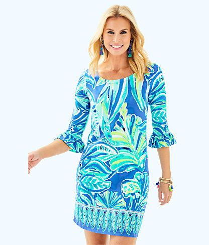 9223321880be59 Lilly Pulitzer Womens Upf 50+ Sophie Ruffle Dress In High Tide Navy Via  Amor Engineered