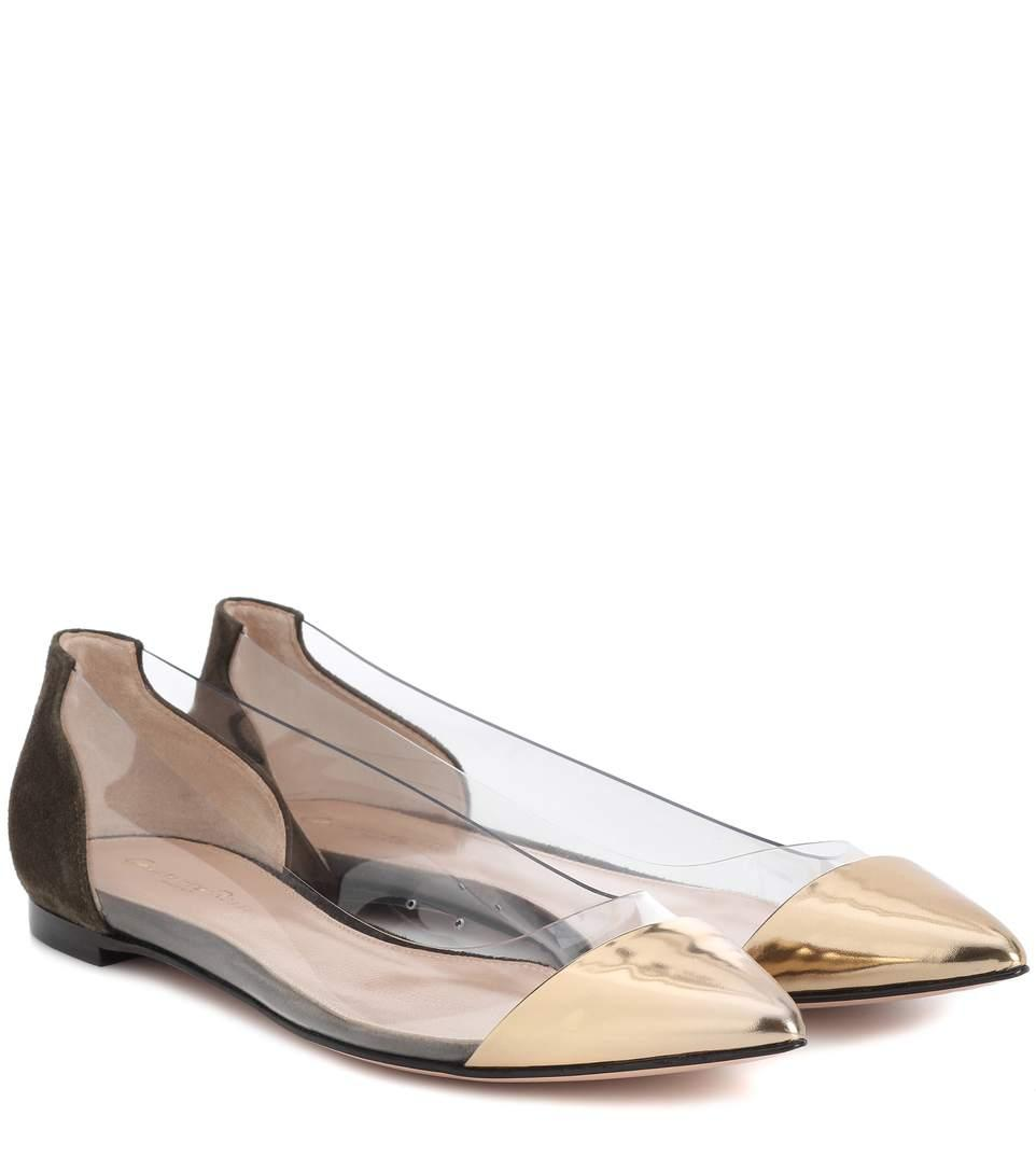 bfe269f4311 GIANVITO ROSSI. Exclusive To Mytheresa.Com - Plexi Leather And Suede ...