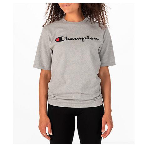00d390032 Champion Women's Heritage Hbr T-Shirt, Grey | ModeSens