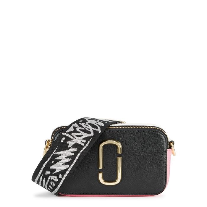 f7bdad393d82 Marc Jacobs Snapshot Colour-Block Leather Shoulder Bag In Black ...