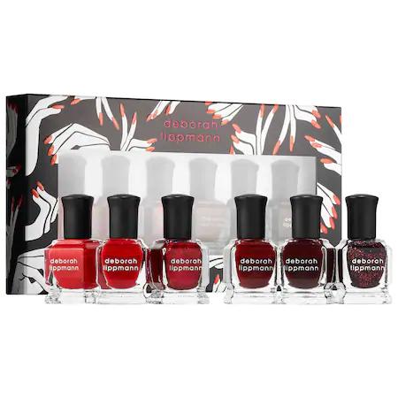 Deborah Lippmann Lady In Red - Shades Of Red Nail Polish Set 6 X ...