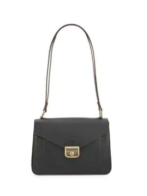 Pliage Heritage Leather Shoulder Bag - Black
