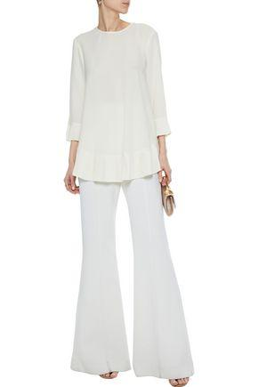 Zimmermann Woman Pleated Crepe De Chine Blouse White