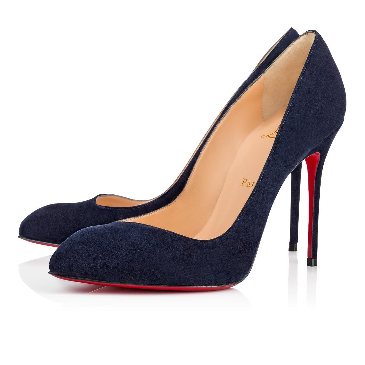 cfccfa41c9b3 Christian Louboutin Decollete 85Mm Suede Red Sole Pumps In Marine ...