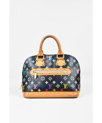 Louis Vuitton Pre Owned Black Coated Canvas Leather Monogram Alma Pm Bag In Black Multicolor Modesens
