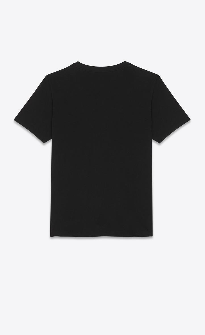 5a6709fecf2 Saint Laurent No Smoking Detail Cotton Jersey T-Shirt, Black | ModeSens