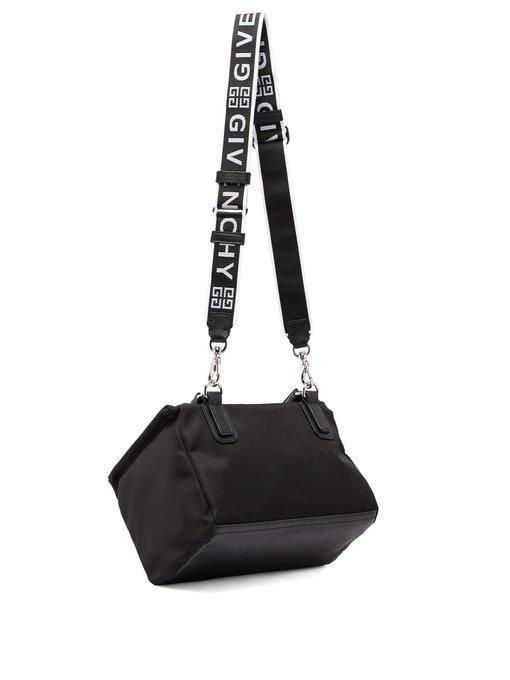7820b4f104077 Givenchy Pandora Small Fabric Satchel Bag With Logo Strap