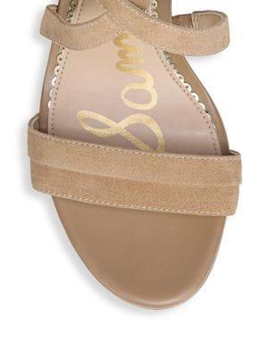 81429217c81 Sam Edelman Women s Sammy Suede Strappy Block Heel Sandals In Beige ...