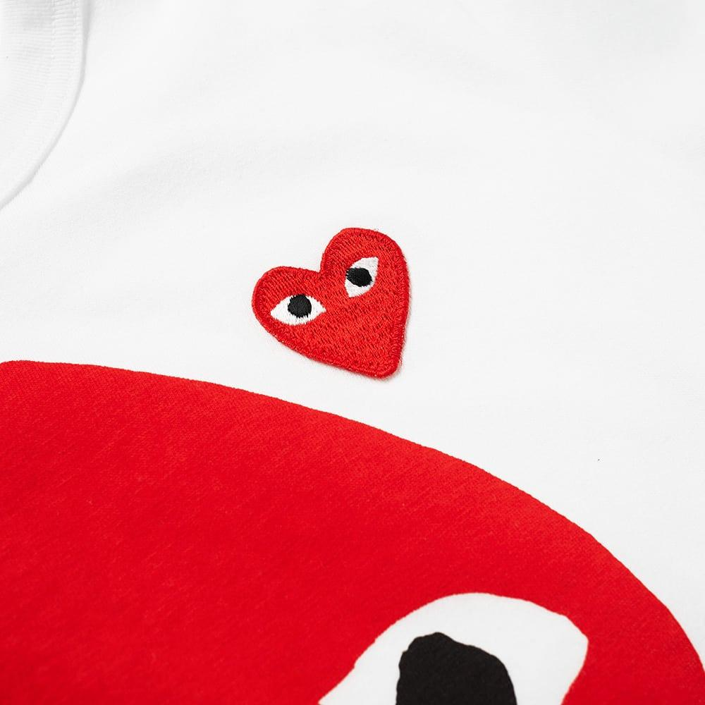 ce18ca40d7c Comme Des GarÇOns Play Comme Des Garcons Play Women s Polka Dot Mix Heart  Tee In White
