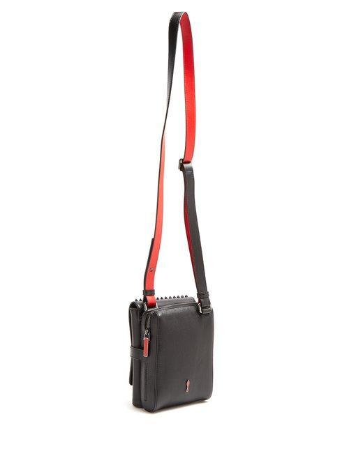 9a95da3d8ee Benech Reporter Studded Leather Cross-Body Bag in Black