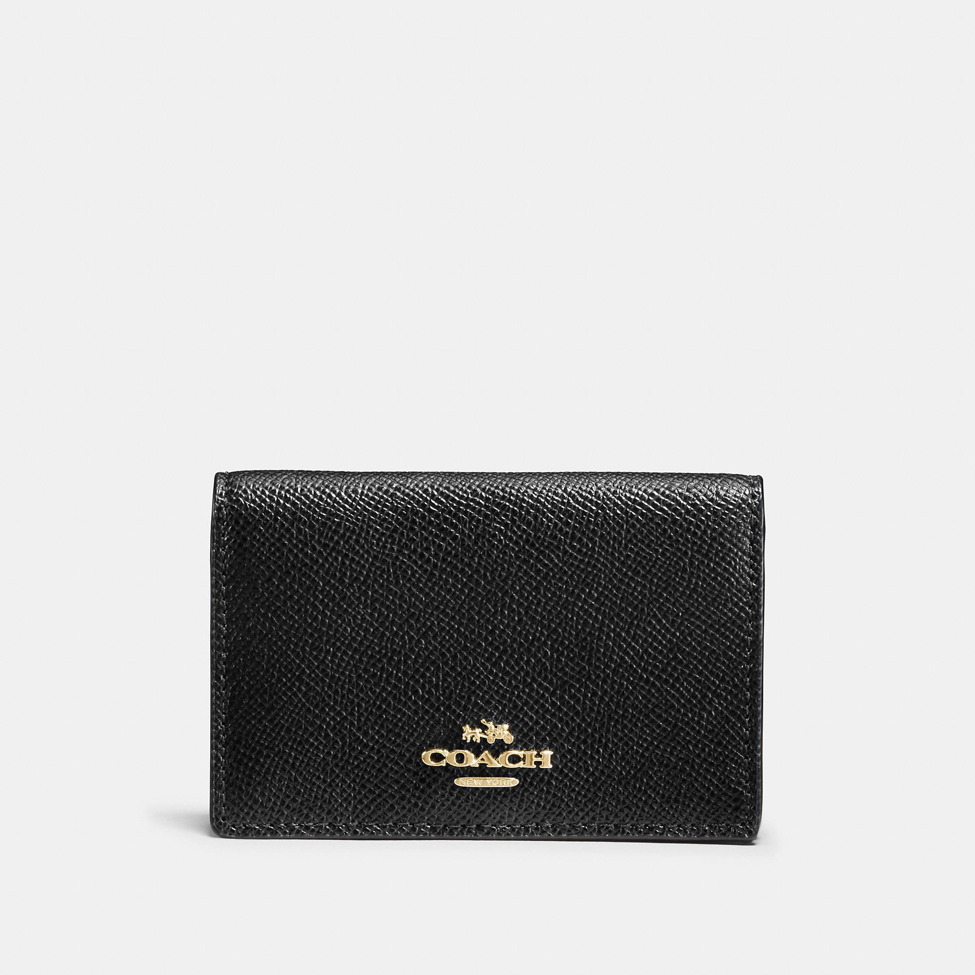 08308bda139bb COACH. Coach Business Card Case - Women s in Black Light Gold