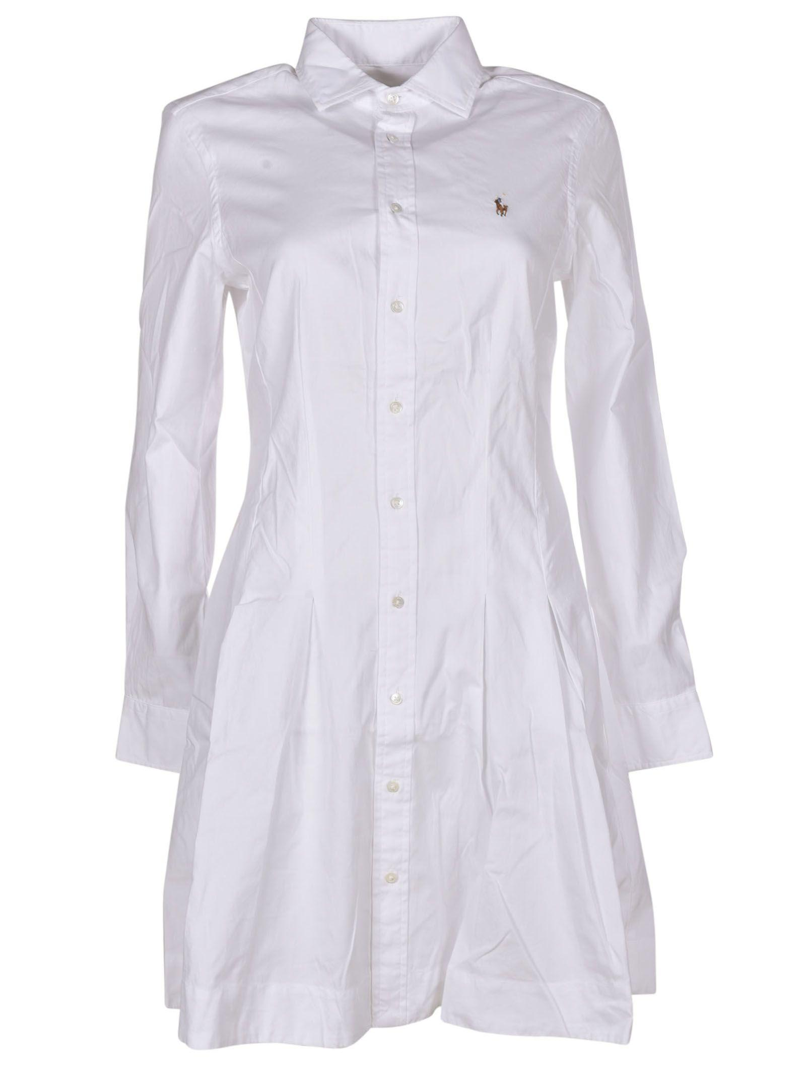 Oxford Shirt Dress In White