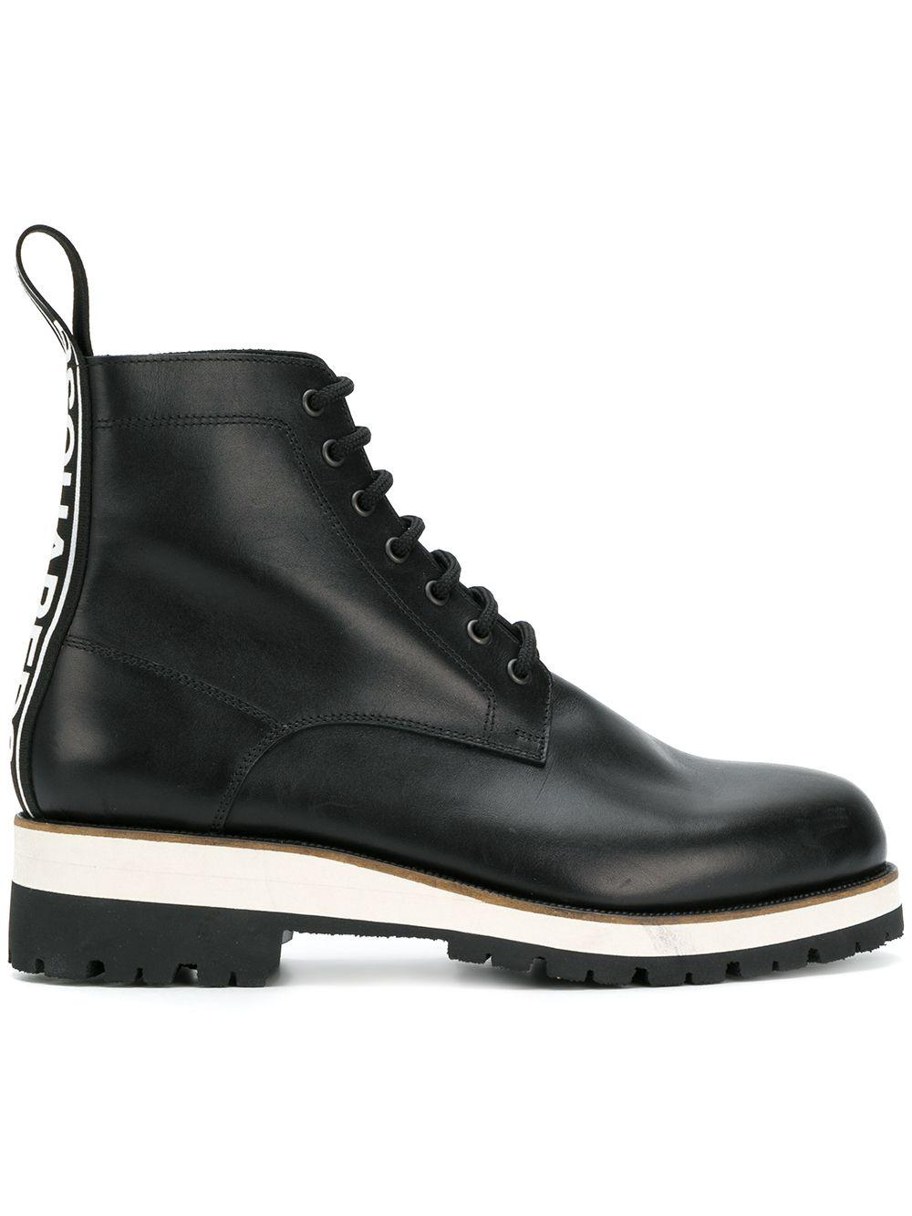 4f564dbfccb66c Dsquared2 Men s Leather Lace-Up Ankle Boot In Black