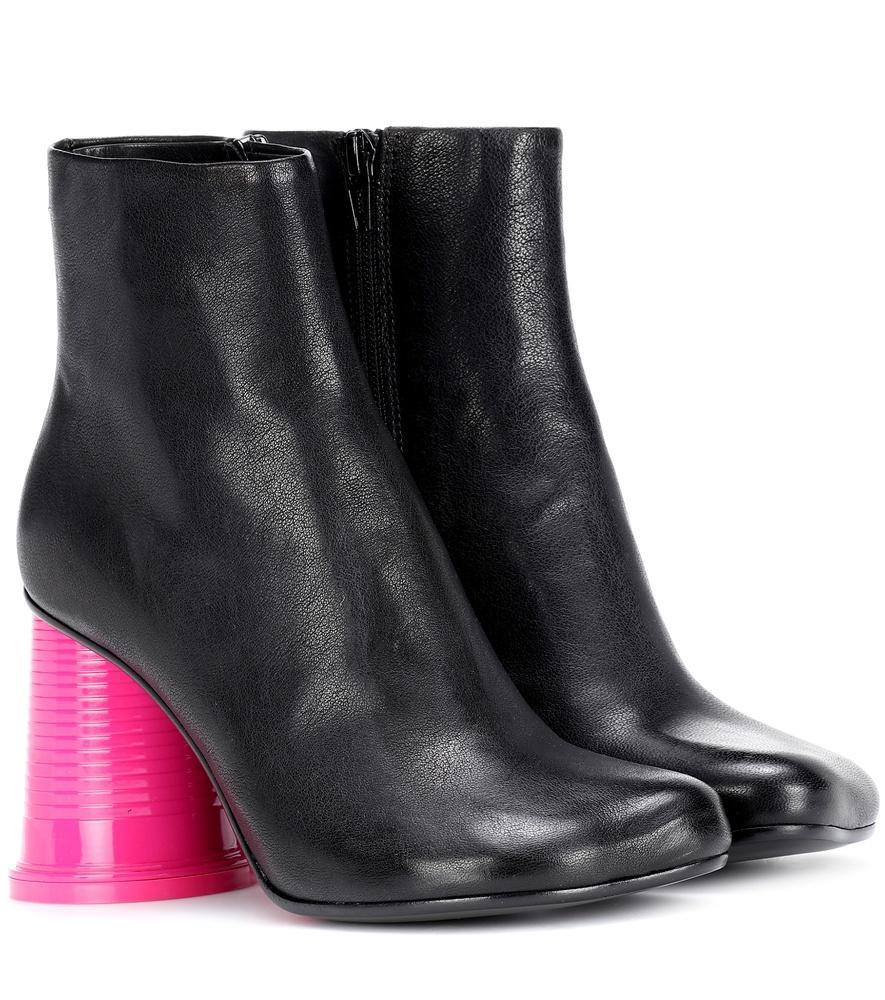 ead919e1ad MM6 MAISON MARGIELA. Mm6 Maison Martin Margiela Black Leather Ankle Boots  ...