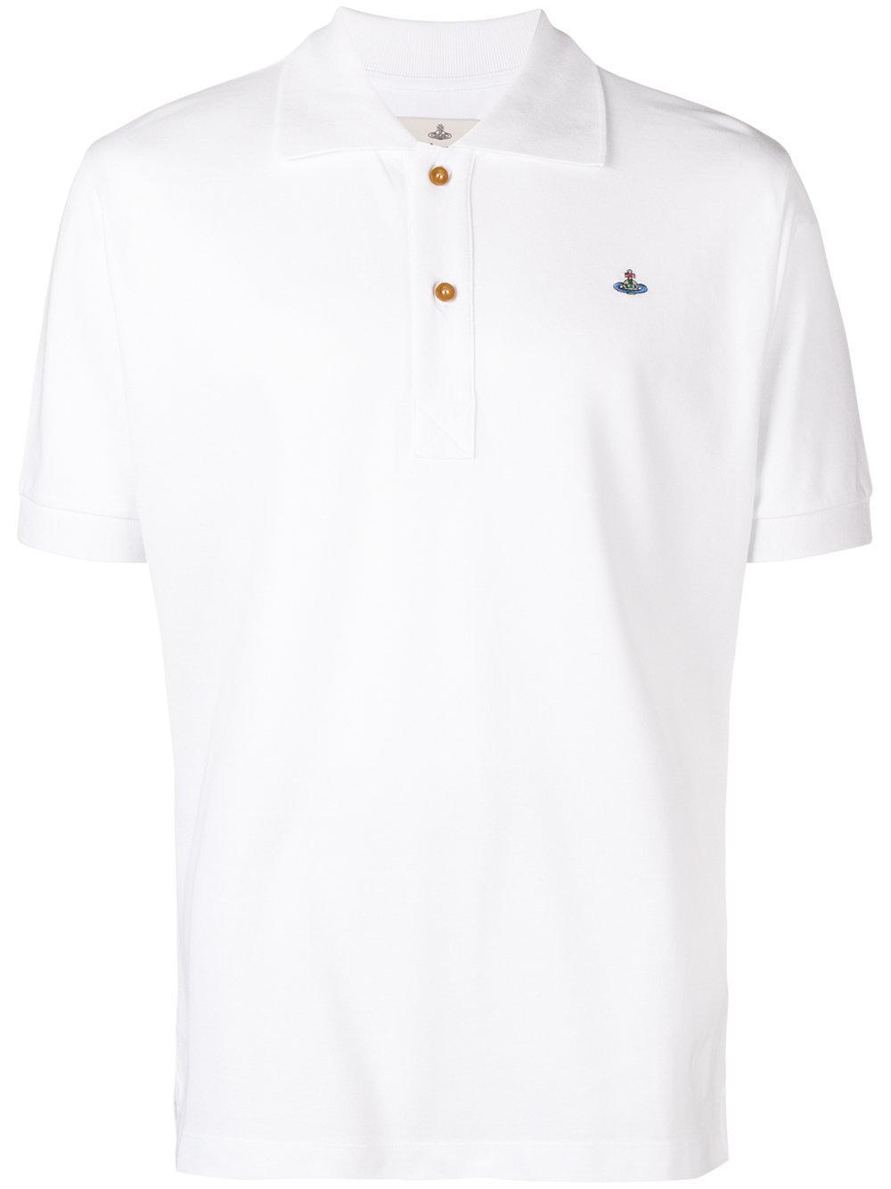 a932705b5 Vivienne Westwood PiquÉ Polo Shirt In White | ModeSens