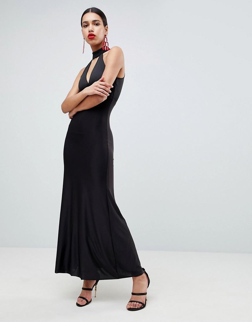 0442320c2be Ax Paris Keyhole Maxi Dress - Black