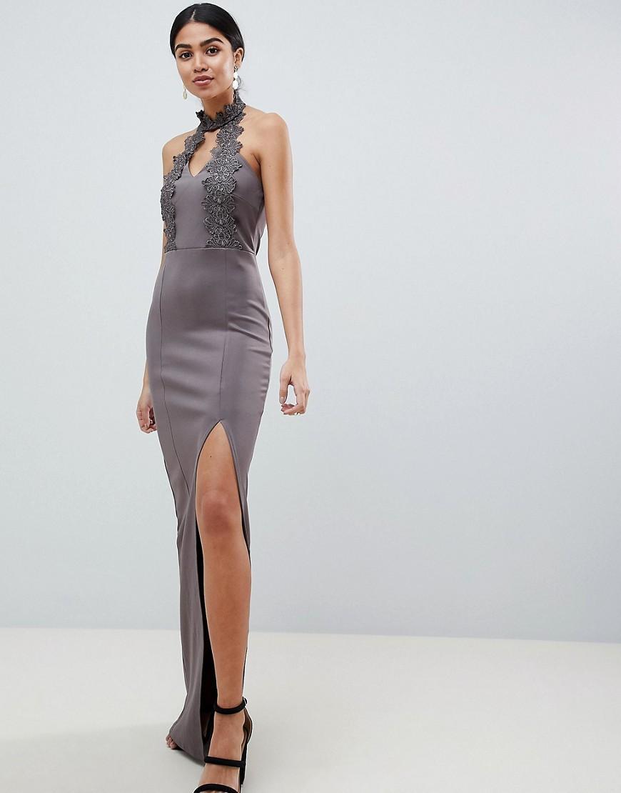 094f5b340c1 Ax Paris Black Crochet Top Maxi Dress - Data Dynamic AG