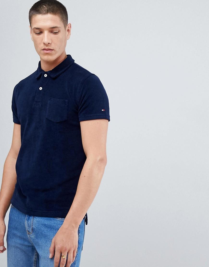Tommy Hilfiger Slim Fit Navy Blue  Polo Shirt