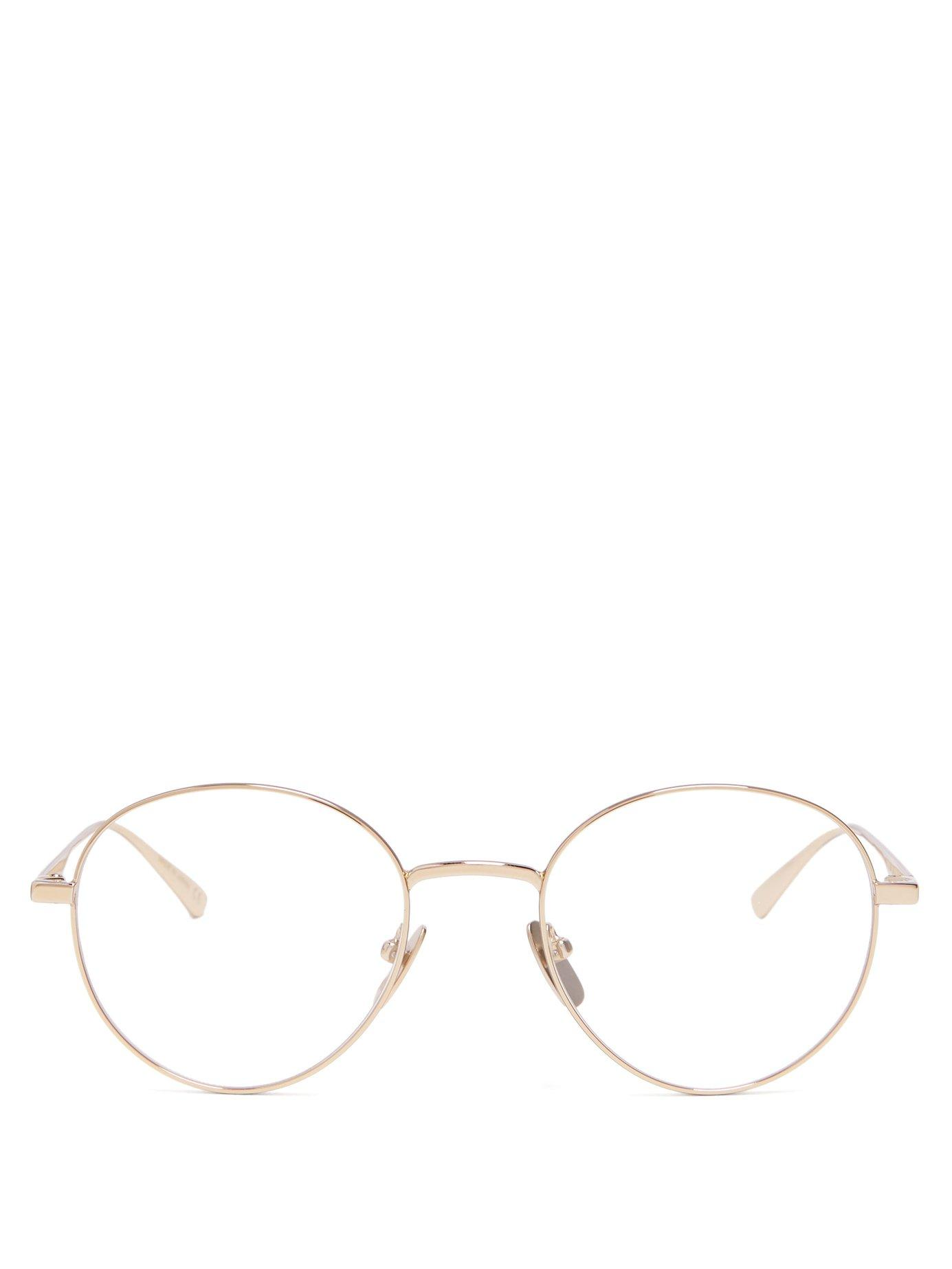 78b1f5949d8 Gucci Round Metal Glasses In Gold