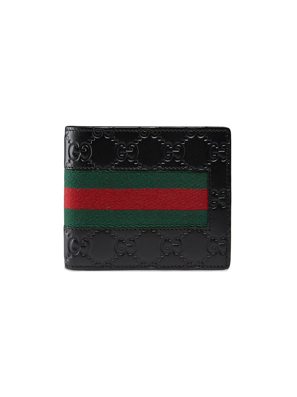 f3a1b4adea8b Gucci Signature Web Wallet With Id Window In Black | ModeSens