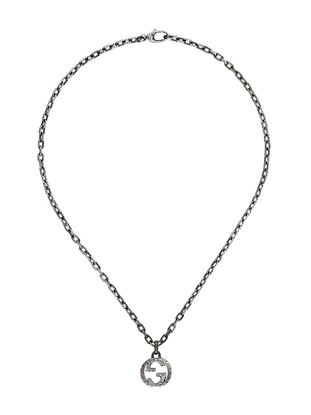 4044dd132da26f Gucci Interlocking G Pendant Necklace - Metallic | ModeSens