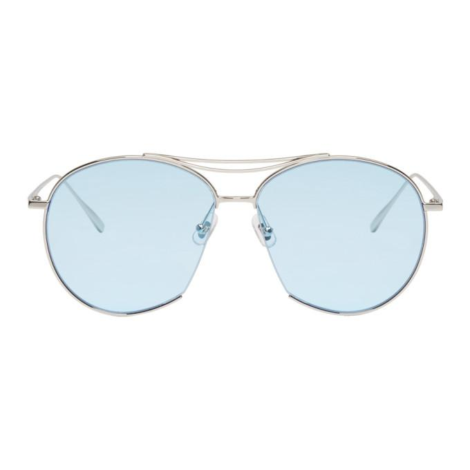 6264d5ce3b58 Gentle Monster Silver And Blue Jumping Jack Sunglasses