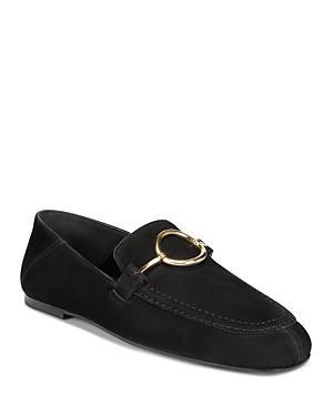 2d459e4f639 Via Spiga Women s Abby2 Nubuck Leather Loafers In Black Nubuck Leather
