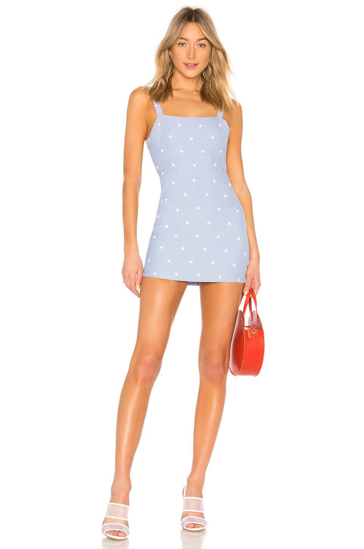 47f2e891abff Privacy Please Josie Mini Dress In Blue. In Chambray Star | ModeSens