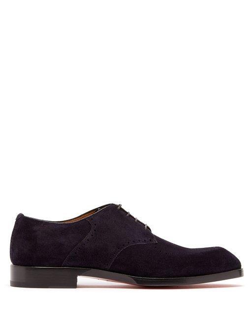 vente chaude en ligne b26fc ecef3 A Mon Homme Suede Derby Shoes in Navy
