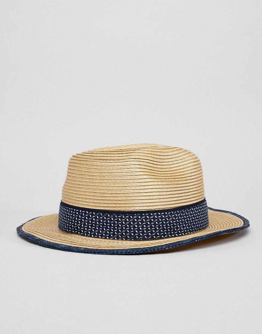 677b86dcd0c9b Ted Baker Straw Fedora Hat - Beige