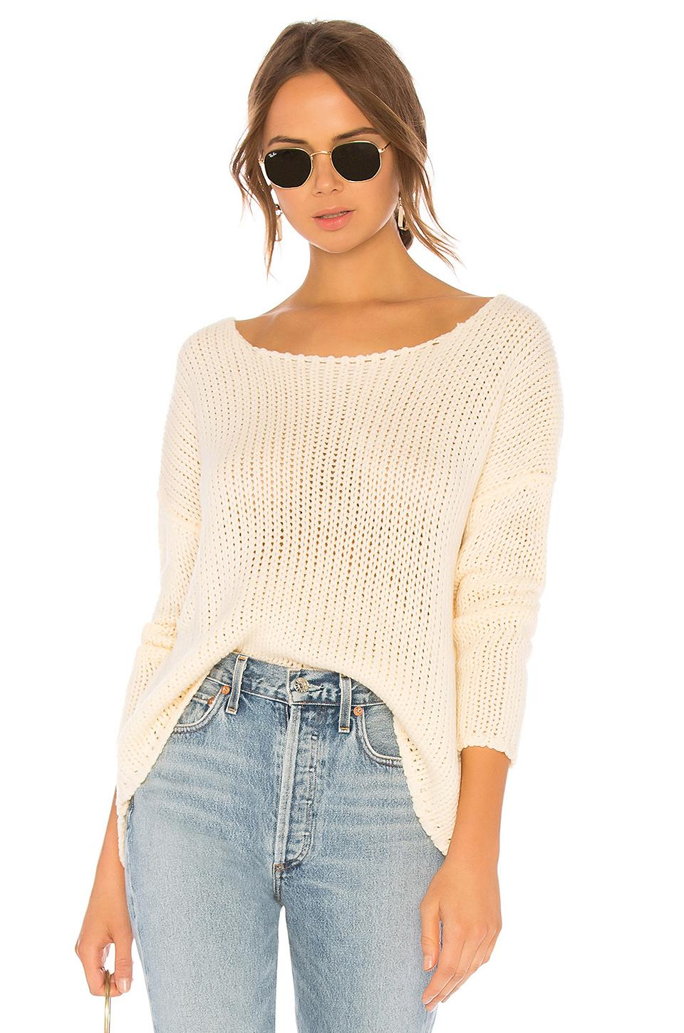 61354c579d4f0 Channel chic off-duty vibes with the Lovers + Friends Sheer Sweater. Crafted  from cozy open knit fabric