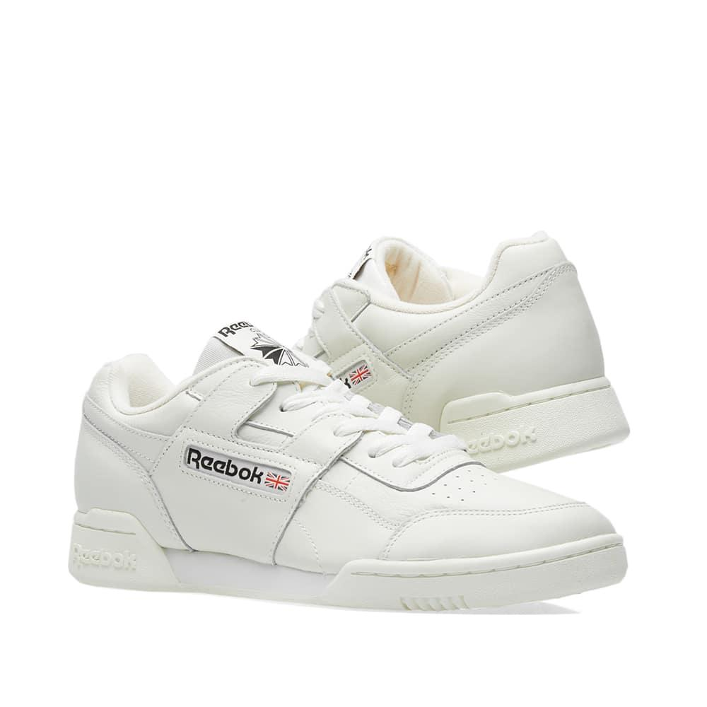 0fa757a09dc Reebok Men s Workout Plus Leather Lace-Up Sneakers In White