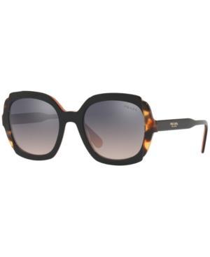 Prada Mirrored Acetate Sunglasses In Black